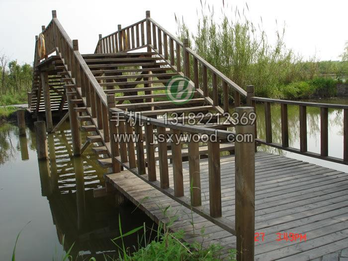 木桥透视图手绘